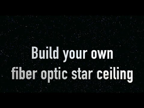 How to make a Star Ceiling or Fiber Optic Ceiling. DIY sky and stars ceiling. for kids bedroom