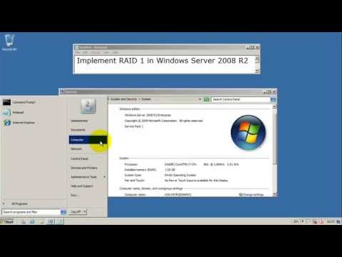 How to setup RAID 1 in Windows Server 2008