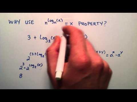 Example Solving Algebraic Equation Using Logarithmic Properties,  Logarithms Lesson 13
