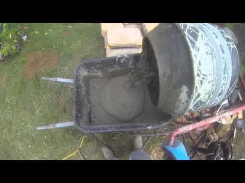 How to pour a concrete slab for a 10x12 metal shed from Lowes