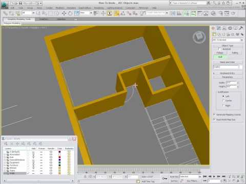 Working with AEC Objects in 3ds Max - Part 1