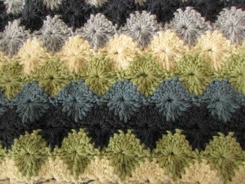 EASY crochet catherine wheel / starburst stitch blanket tutorial - part 1
