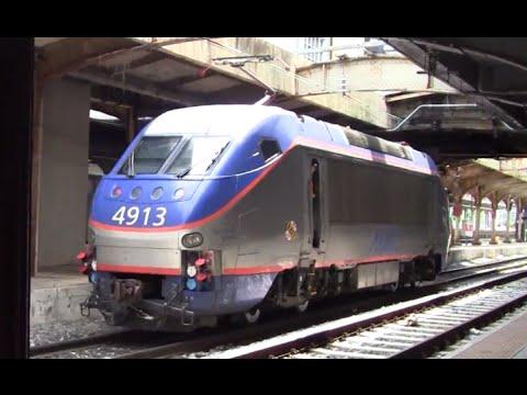 ᴴᴰ MARC HHP-8 Deadheading Through Baltimore Penn Station