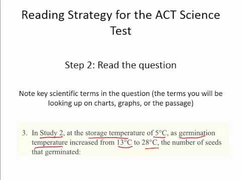 How to Read the ACT Science Test