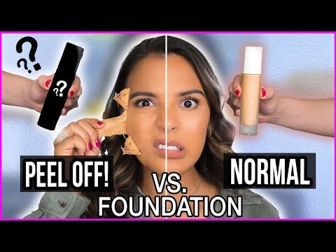 Beauty Busters: Poop or Woop? DIY PEEL OFF vs. NORMAL FOUNDATION Natalies Outlet