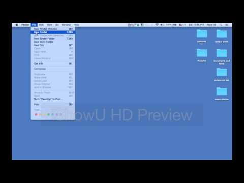 How to create a new file/folder in a mac