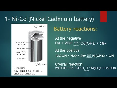 Electro-chemistry / Secondary Cells /Nickel Cadmium battery/Lead–acid storage battery