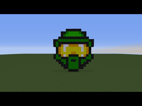 Minecraft Tutorial Ep.16: How To Make A Halo Master Chief Helmet
