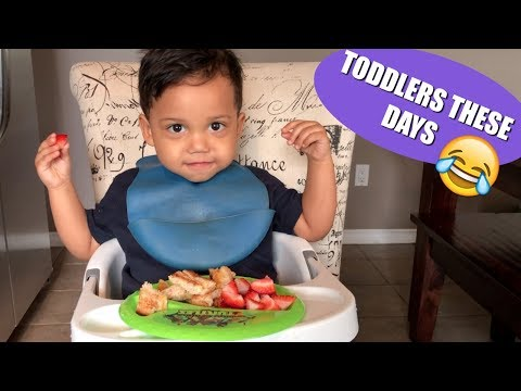 Funny Toddler Answering Life's Questions | Talking at 22 months