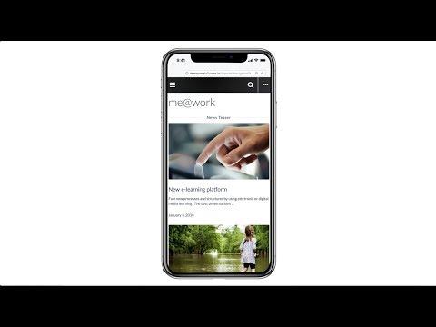 SAP Portal on iPhone X