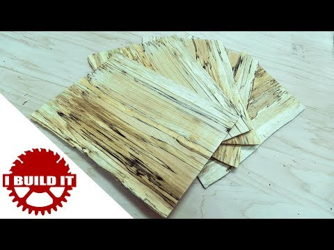Cutting Spalted Maple Veneer On The Band Saw