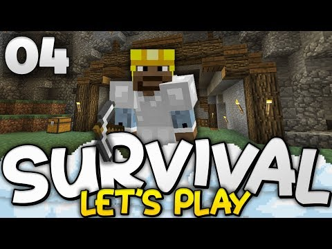 THE UNDERGROUND LAIR!!! - Survival Let's Play Ep. 04 - Minecraft Bedrock (PE W10 XB1)