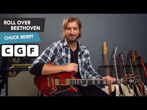 Roll Over Beethoven Guitar Lesson - Chuck Berry - Lead Guitar SOLO INTRO