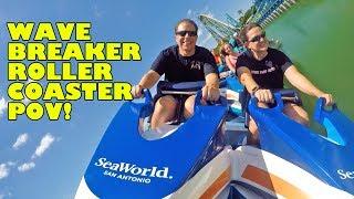 Wave Breaker Roller Coaster Multi-Angle POV! Front Seat! SeaWorld San Antonio Texas New 2017