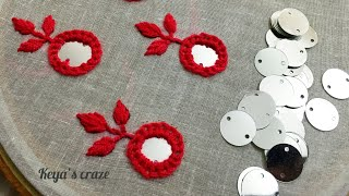 Hand embroidery 2019 | All over Mirror Flower Hand embroidery 2019 | Keya's Craze