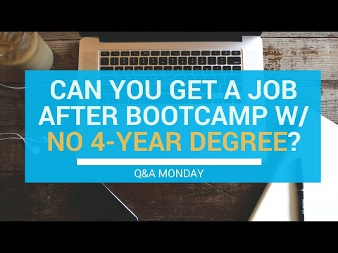 Can You Get A Job After Coding Bootcamp With No Degree? | Q&A Monday