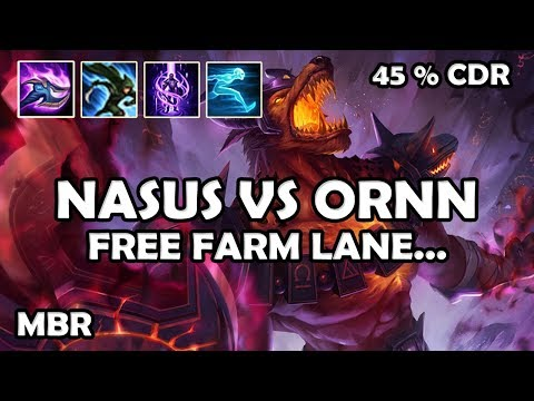 Infernal Nasus Vs Ornn | So Bad I'm Good | 45% CDR StormRaiders Surge | Season 7