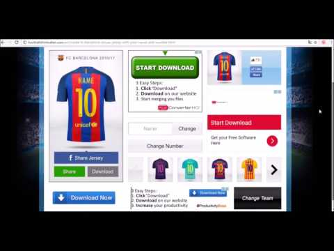 Create your soccer jersey with your name and number