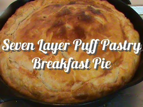 7 Layer Puff Pastry Breakfast Pie