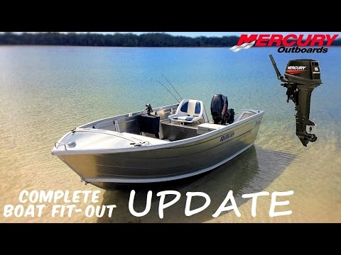 NEW TINNY FIT-OUT with 15HP Mercury 2 Stroke **UPDATE**