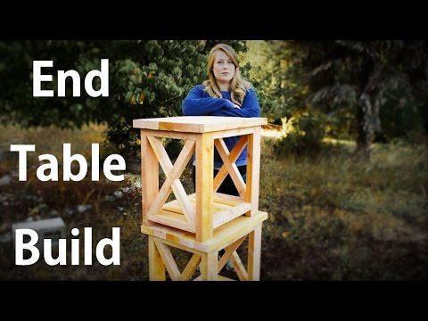 Easy End Table Build Start to Finish