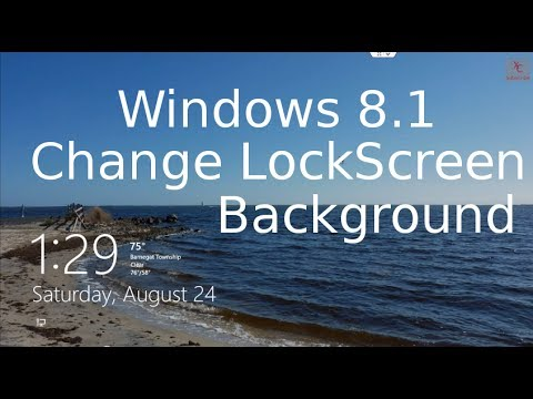 Change Lock Screen Background - Windows 8.1 Tutorial