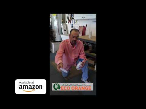 How to clean paint overspray on garage floors. Eco Friendly Cleaner