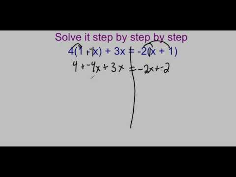Multi Step Equations with Variables on Both Sides