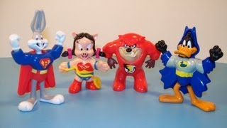 1992 McDONALD'S LOONEY TOONS DC SUPER FRIENDS SET OF 4 HAPPY MEAL TOY'S REVIEW