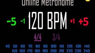 Metronome 120 BPM 3/4 Time Signature