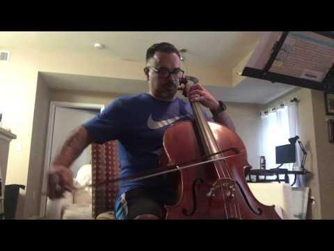 Adult cello progress. Week two.