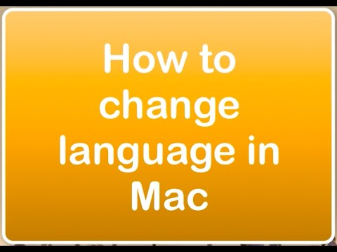 How to change language in Mac 2016