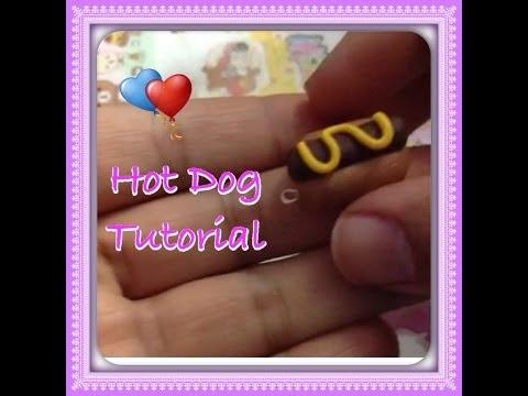 Polymer clay easy hot dog tutorial DIY