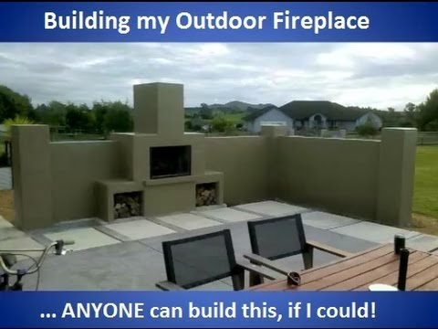 Building my outdoor fireplace (with commentary)