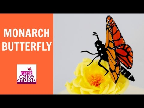 How to make a Gum Paste Monarch Butterfly RUSTIK CAKE STUDIO Rocio Fukuda