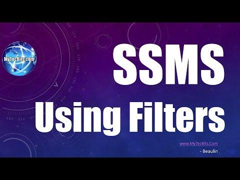 Using filters In SQL Server Management Studio | SQL Server Tips #1