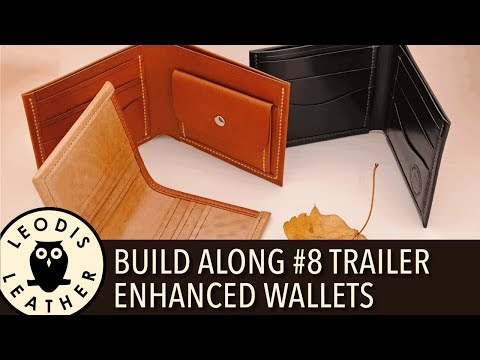 Leather Build Along Pattern #8 Trailer: Enhanced Coin and Card Wallets