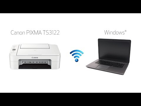 Setting up Your Wireless Canon PIXMA TS3122- Easy Wireless Connect with a Windows Computer