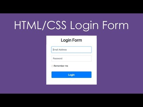HTML & CSS Login Form with Bootstrap 4