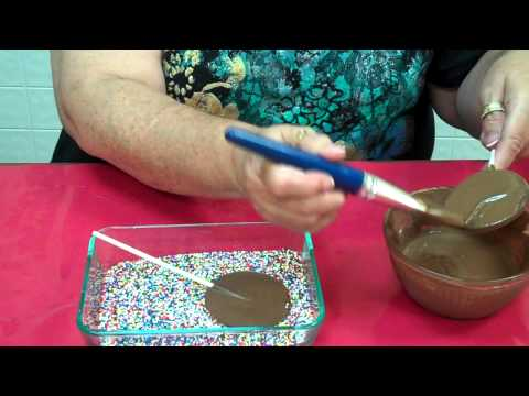 How To Make Non Pareils Covered Lollipops