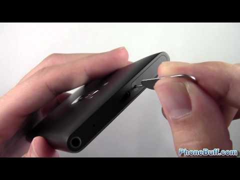 How To Insert Micro SIM Card On The Nokia Lumia 900