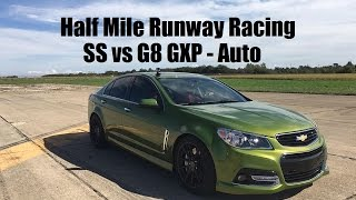 Chevy SS vs. Pontiac G8 GXP - Half Mile 40 Roll