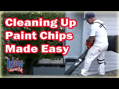 How To Clean Up Paint Chips.  House painting clean up instructions.