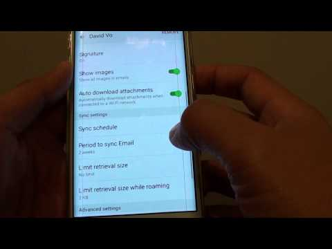 Samsung Galaxy S6 Edge: How to Change Email Sync Period