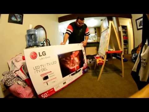 *unboxing*  LG 50LN5100 1080p 120HZ LN51 LED HDTV Review Walmart Bestbuy blackfriday