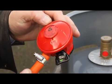 How to fit a propane gas regulator