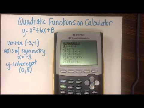 Quadratic Functions & the calculator (ti-84 plus)