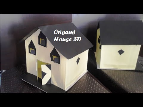 3D Paper House diy Kids Craft Origami