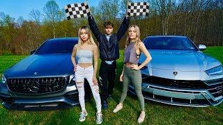 OUR GIRLFRIENDS RACED! (Lamborghini Urus vs. Mercedes-AMG GLC63S)