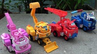 Super Wings RoBot Suit Toys Jett, Dizzy, Donnie, Paul